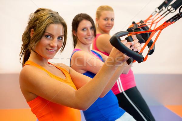 подвеска подготовки девочек спортивных клуба спорт Сток-фото © ivonnewierink