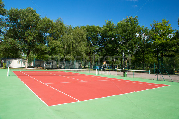Outdoor tennis court Stock photo © ivonnewierink