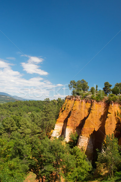 Landscape with ochre in France Stock photo © ivonnewierink