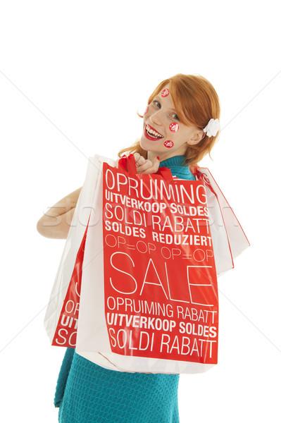 Woman during season sale Stock photo © ivonnewierink