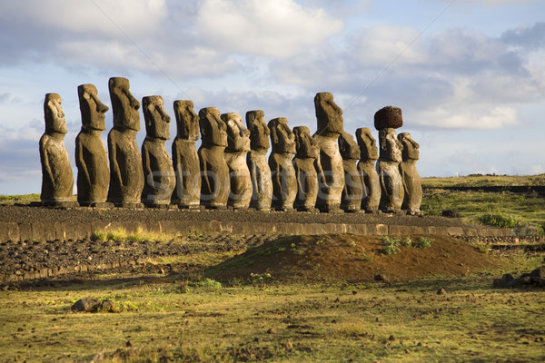 Foto stock: Ilha · de · Páscoa · pedra · parque · ilha · história · magia