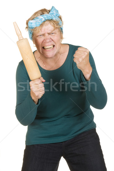Aggressive house wife Stock photo © ivonnewierink