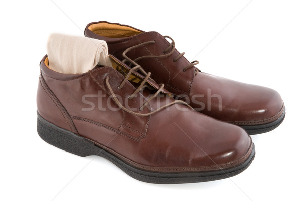 Shiny polished brown shoes Stock photo © ivonnewierink