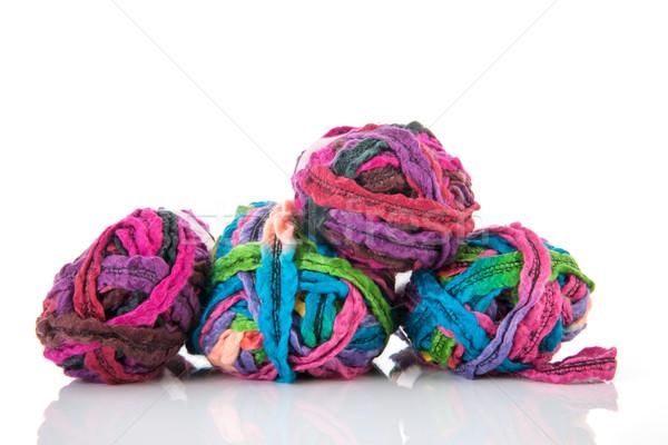 Colorful knitting wool Stock photo © ivonnewierink