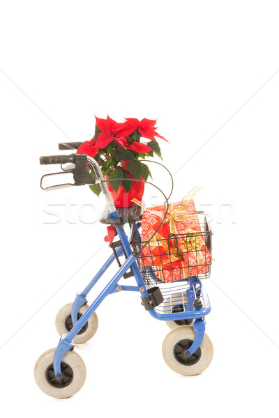 Blue walker with Christmas gifts Stock photo © ivonnewierink