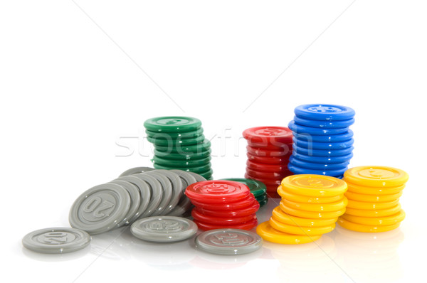 Fiches as plastic money Stock photo © ivonnewierink