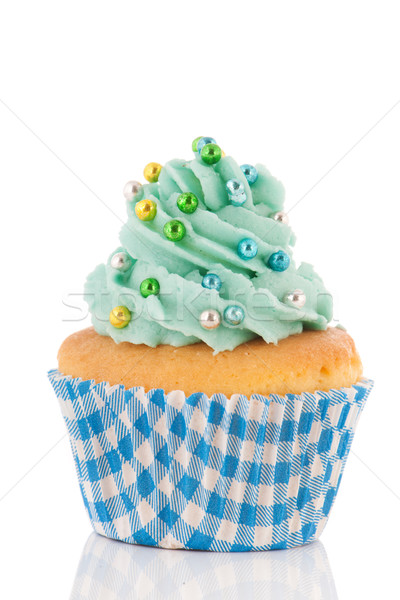 Cupcake in blue and green Stock photo © ivonnewierink