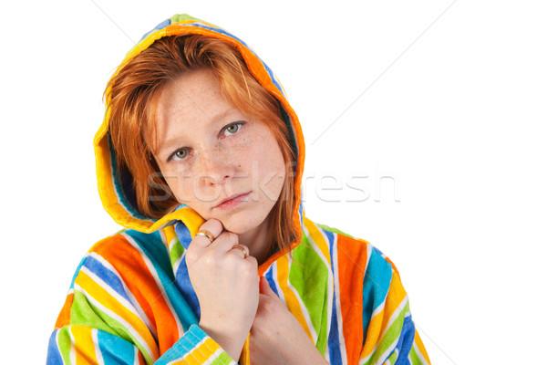 халат красочный волос лет Сток-фото © ivonnewierink