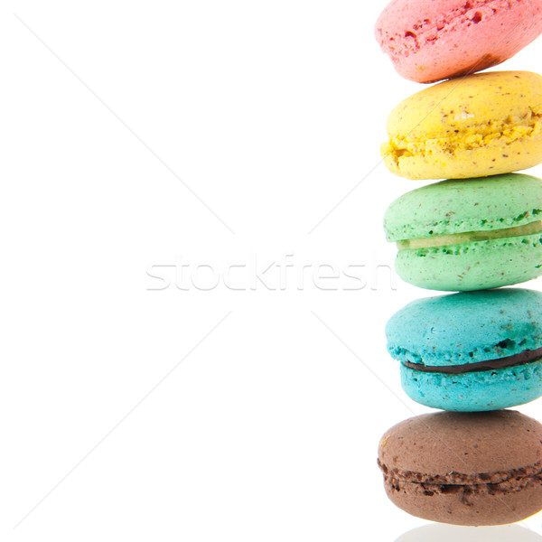 Cadre of macaroons Stock photo © ivonnewierink