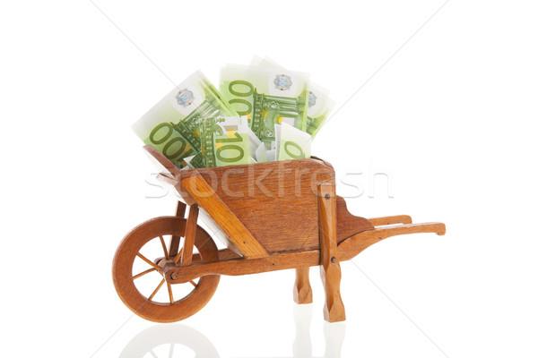 El arabası euro bahçıvanlık euro yalıtılmış Stok fotoğraf © ivonnewierink