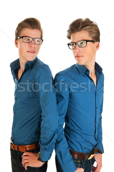 Adult male twins Stock photo © ivonnewierink