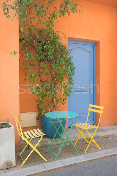 French terrace Stock photo © ivonnewierink