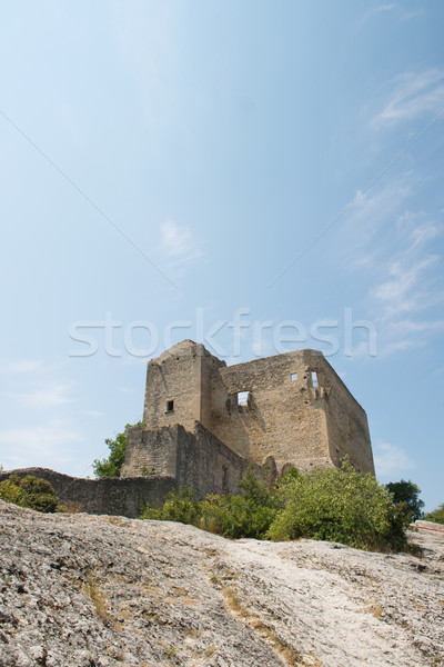 Old castle Vaison-la-Romaine Stock photo © ivonnewierink