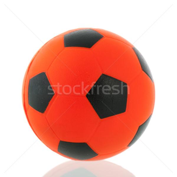 Naranja holandés balón de fútbol aislado blanco Foto stock © ivonnewierink