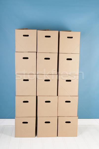 Rimozione casa scatole interni nessuno rosolare Foto d'archivio © ivonnewierink