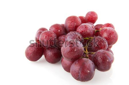 Fresh red grapes Stock photo © ivonnewierink