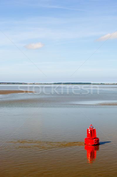 Baken zee Rood nederlands water landschap Stockfoto © ivonnewierink