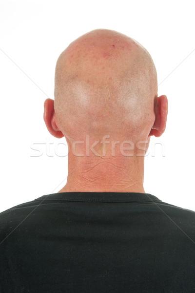 Portrait backside bald man Stock photo © ivonnewierink