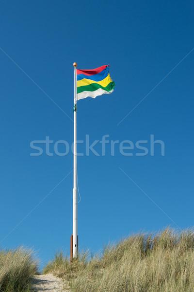Flag Dutch wadden island Terschelling Stock photo © ivonnewierink