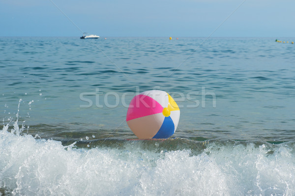 Ballon de plage mer coloré gonflable jouer surf Photo stock © ivonnewierink