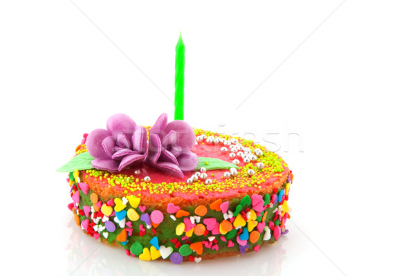 Fancy birthday cake Stock photo © ivonnewierink