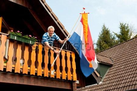 カップル オランダ語 観察 小屋 フラグ ストックフォト © ivonnewierink