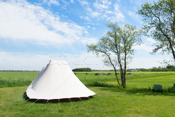 Tent in nature Stock photo © ivonnewierink