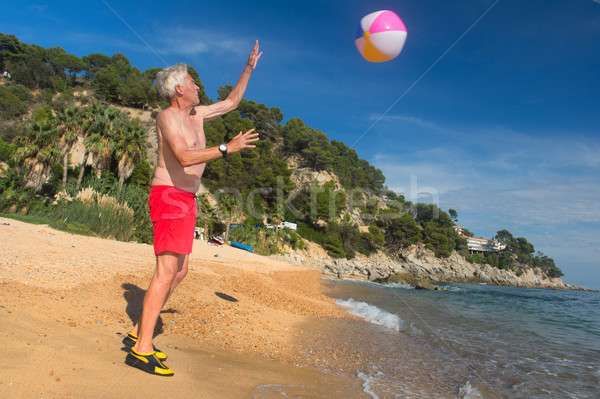 Man playing with ball Stock photo © ivonnewierink