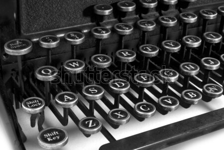 black and white keyboard typewriter Stock photo © ivonnewierink