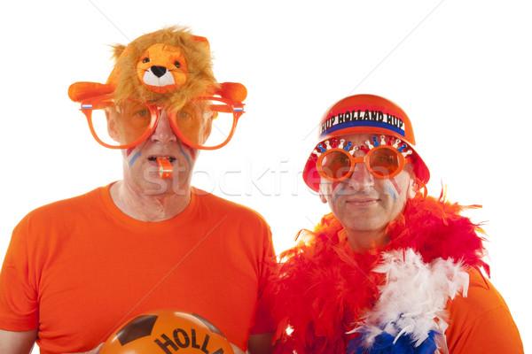 Dutch soccer supporters Stock photo © ivonnewierink