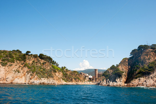 Castle at Spanish coast Stock photo © ivonnewierink