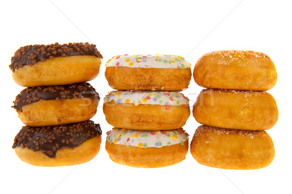 Sugary sweet donuts Stock photo © ivonnewierink