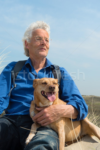 Man with dog Stock photo © ivonnewierink