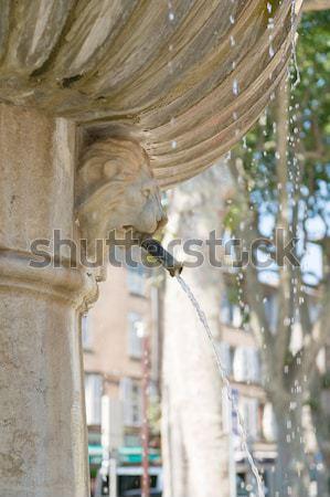 Velho romano fonte francês aldeia Foto stock © ivonnewierink