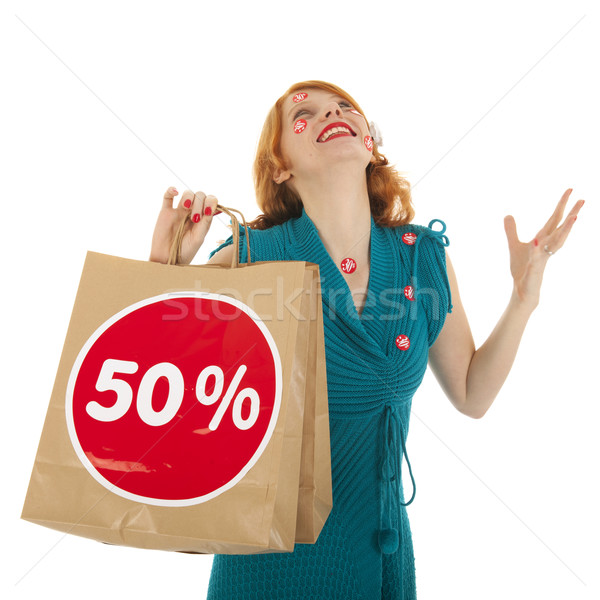 Woman with shopping bag Stock photo © ivonnewierink