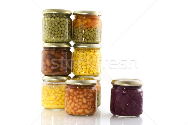 Stock photo: Canned vegetables