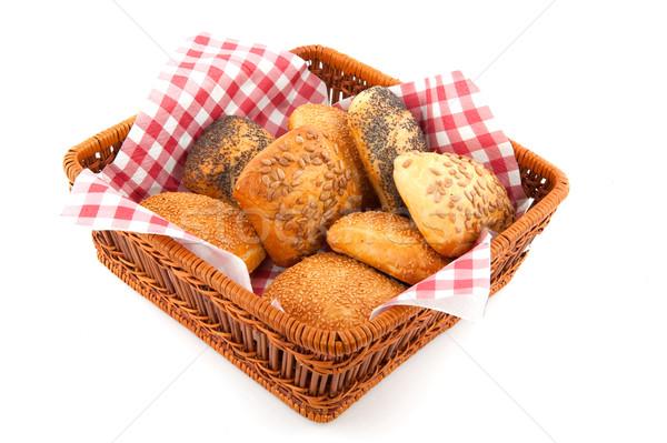 Luxury bread rolls in basket Stock photo © ivonnewierink