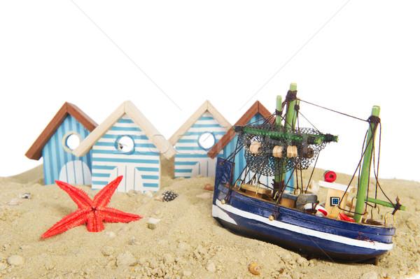 Little fisherman village Stock photo © ivonnewierink