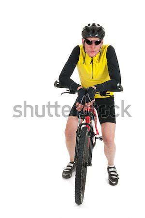Mountain biker resting  in studio Stock photo © ivonnewierink