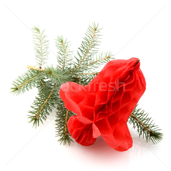Red christmas bell Stock photo © ivonnewierink