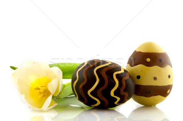 Chocolate eggs Stock photo © ivonnewierink
