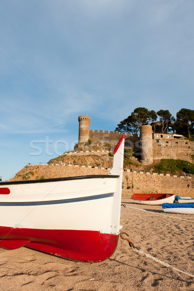 Foto stock: Castillo · espanol · costa · playa · edificio · naturaleza