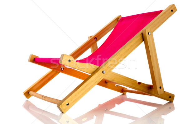 Pink beach chair Stock photo © ivonnewierink