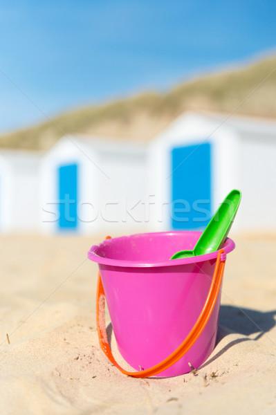 Stok fotoğraf: Tatil · plaj · mavi · beyaz · plastik