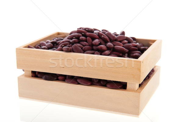 Crate brown beans Stock photo © ivonnewierink