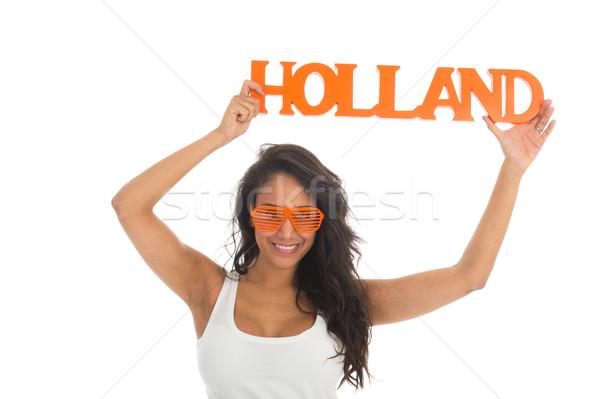Aderente Holland donna nera squadra isolato Foto d'archivio © ivonnewierink