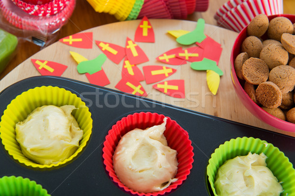 Sinterklaas cupcakes Stock photo © ivonnewierink