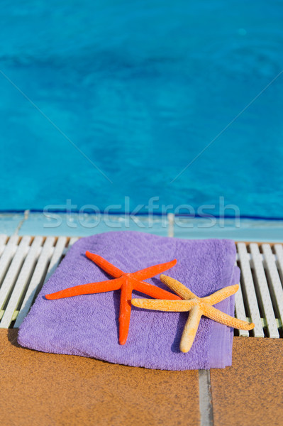 Towel and starfishes Stock photo © ivonnewierink
