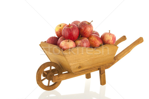 Wheelbarrow red apples Stock photo © ivonnewierink