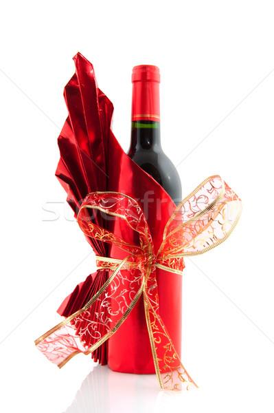 Christmas wine bottle Stock photo © ivonnewierink